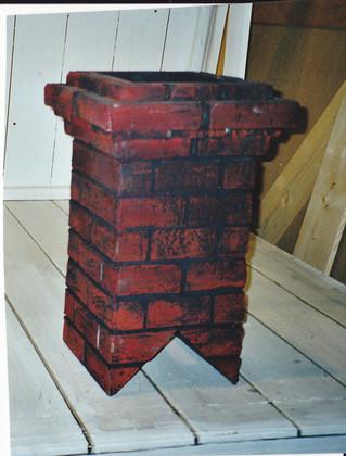 Bühnenmalerei Ziegelstein Imitation, für das Ulmer Theater,  Atelier Werkall, 1999