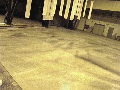 Bühnenmalerei Betonboden,  Atelier Werkall,
